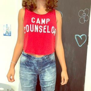 Cute red tank top!
